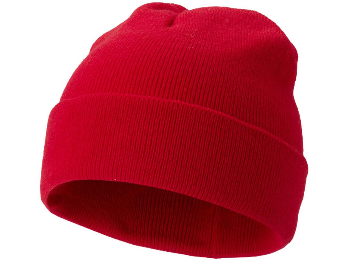 Irwin Mütze, rot bedrucken, Art.-Nr. 11104300
