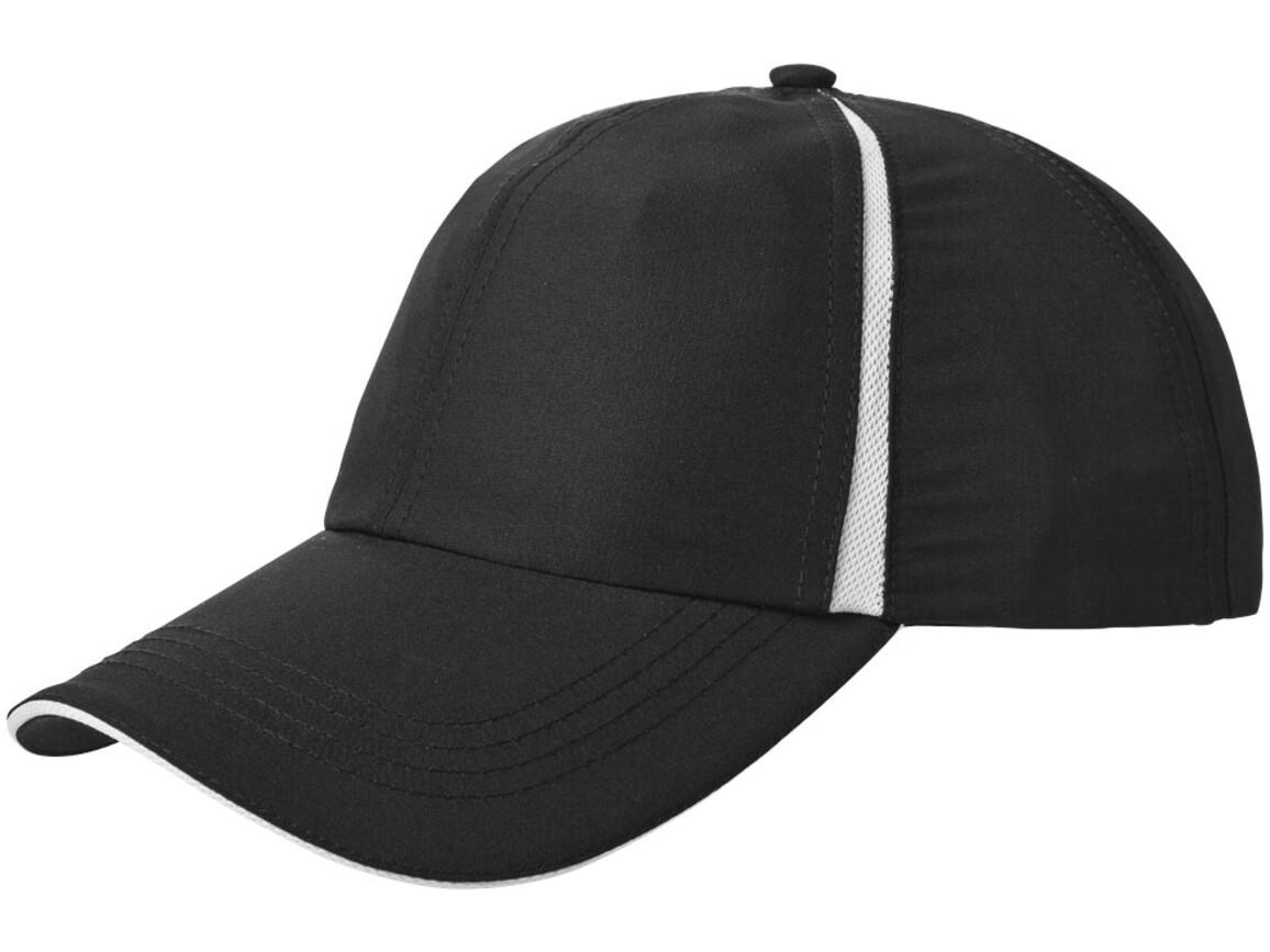 Momentum Kappe cool fit mit 6 Segmenten und Sandwichschirm, schwarz bedrucken, Art.-Nr. 11105201