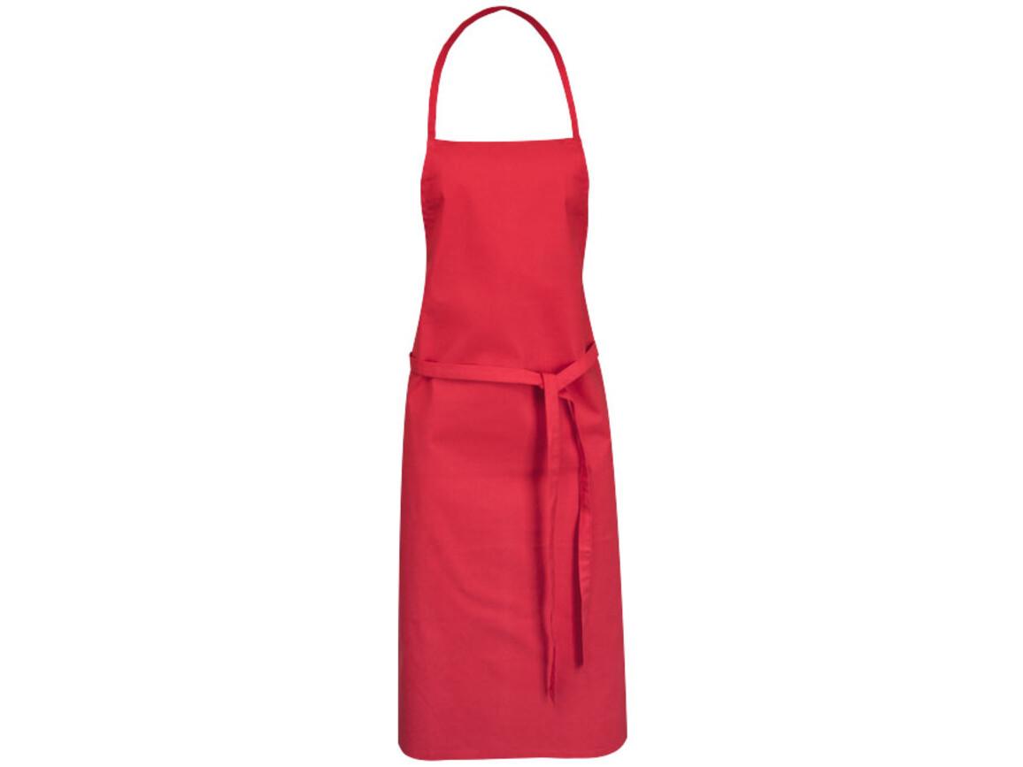 Reeva Schürze aus 100 % Baumwolle mit Bindeband, rot bedrucken, Art.-Nr. 11271202