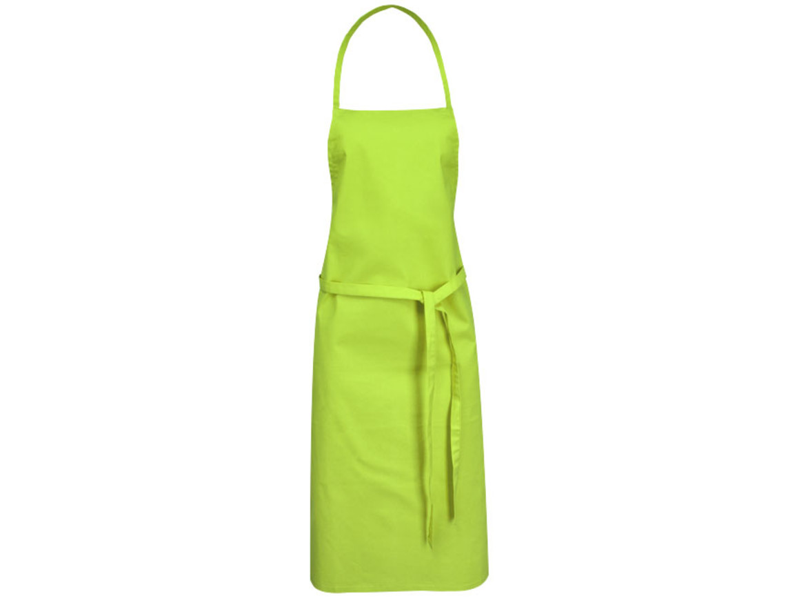 Reeva Schürze aus 100 % Baumwolle mit Bindeband, limone bedrucken, Art.-Nr. 11271204