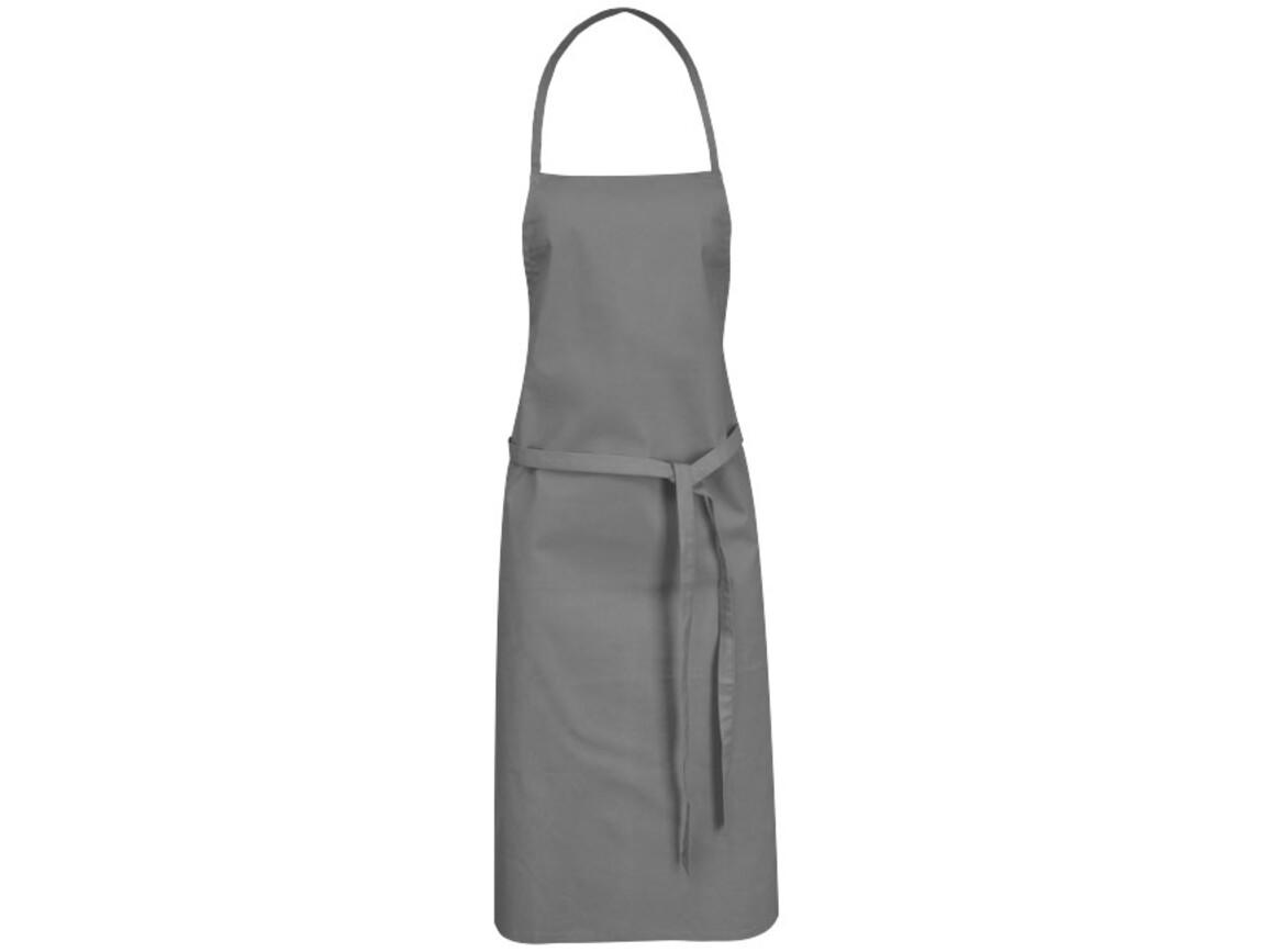 Reeva Schürze aus 100 % Baumwolle mit Bindeband, grau bedrucken, Art.-Nr. 11271211
