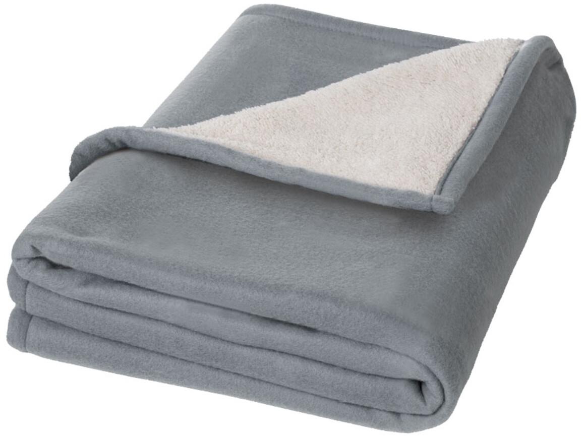Springwood Plaid-Decke aus Soft- und Sherpa-Fleece, grau, weiss bedrucken, Art.-Nr. 11280900