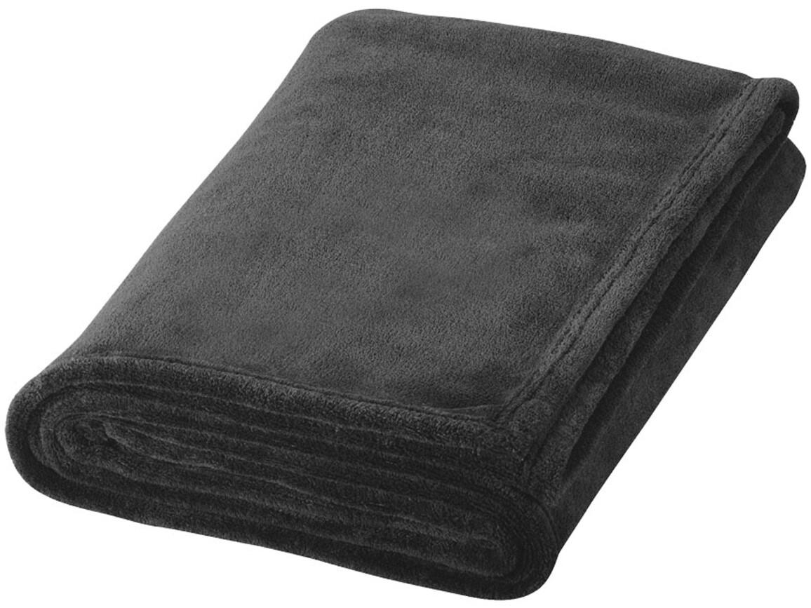 Bay Plaid-Decke aus extraweichem Coral-Fleece, schwarz bedrucken, Art.-Nr. 11281000