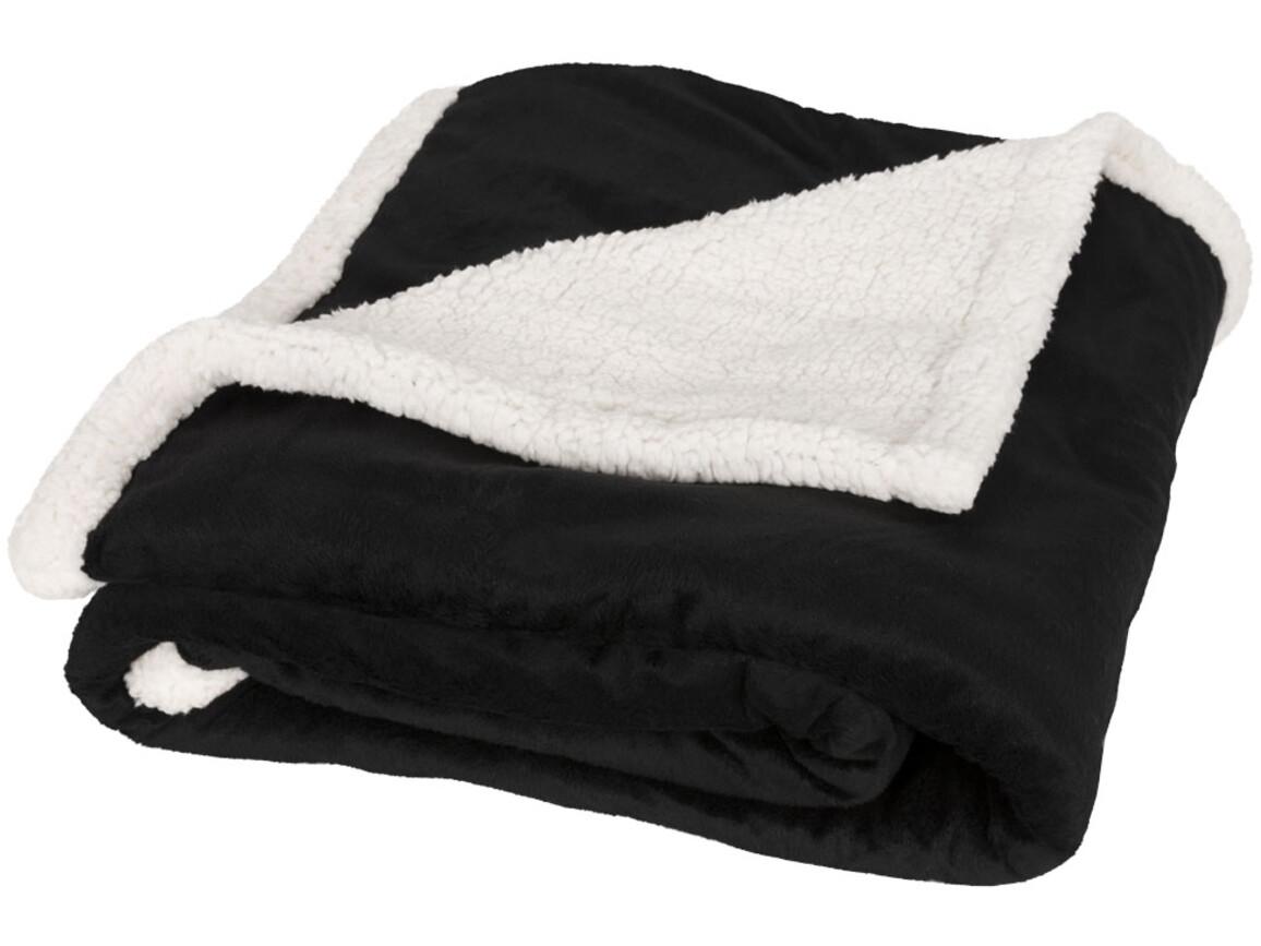 Lauren Sherpa-Fleece Decke, schwarz bedrucken, Art.-Nr. 11293400