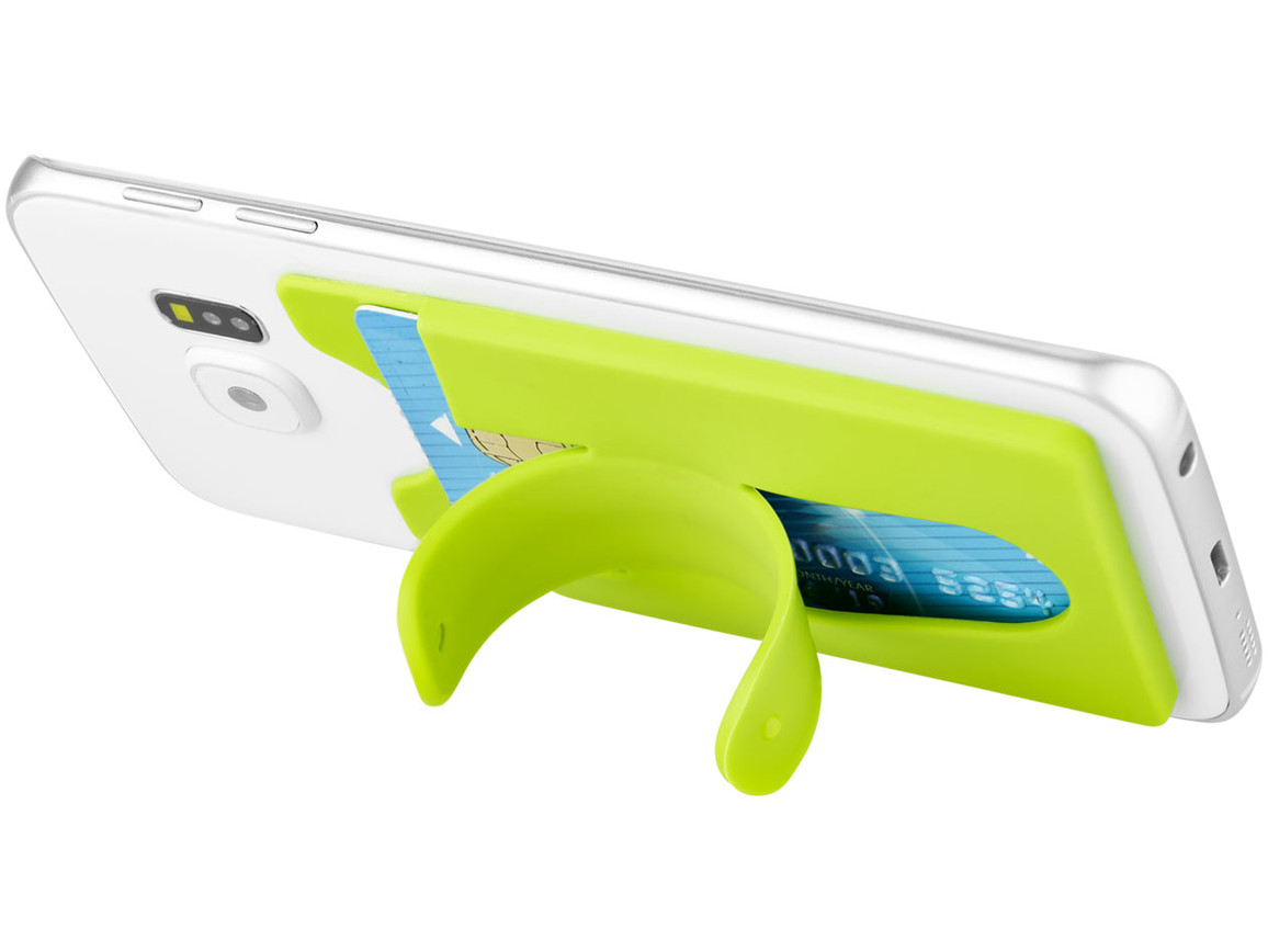 Stue Silikon Smartphonehalter und -hülle, limone bedrucken, Art.-Nr. 13421803