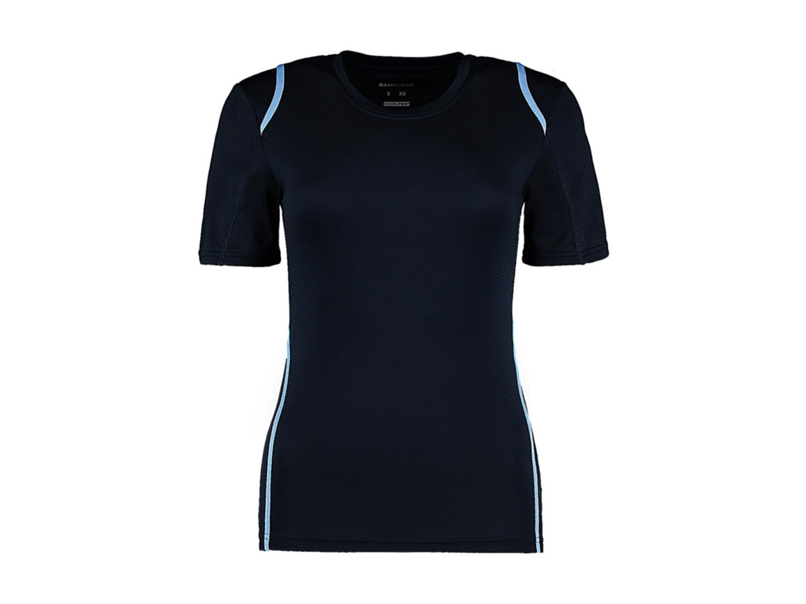 Kustom Kit Women`s Regular Fit Cooltex® Contrast Tee, Navy/Light Blue, XS bedrucken, Art.-Nr. 002112411