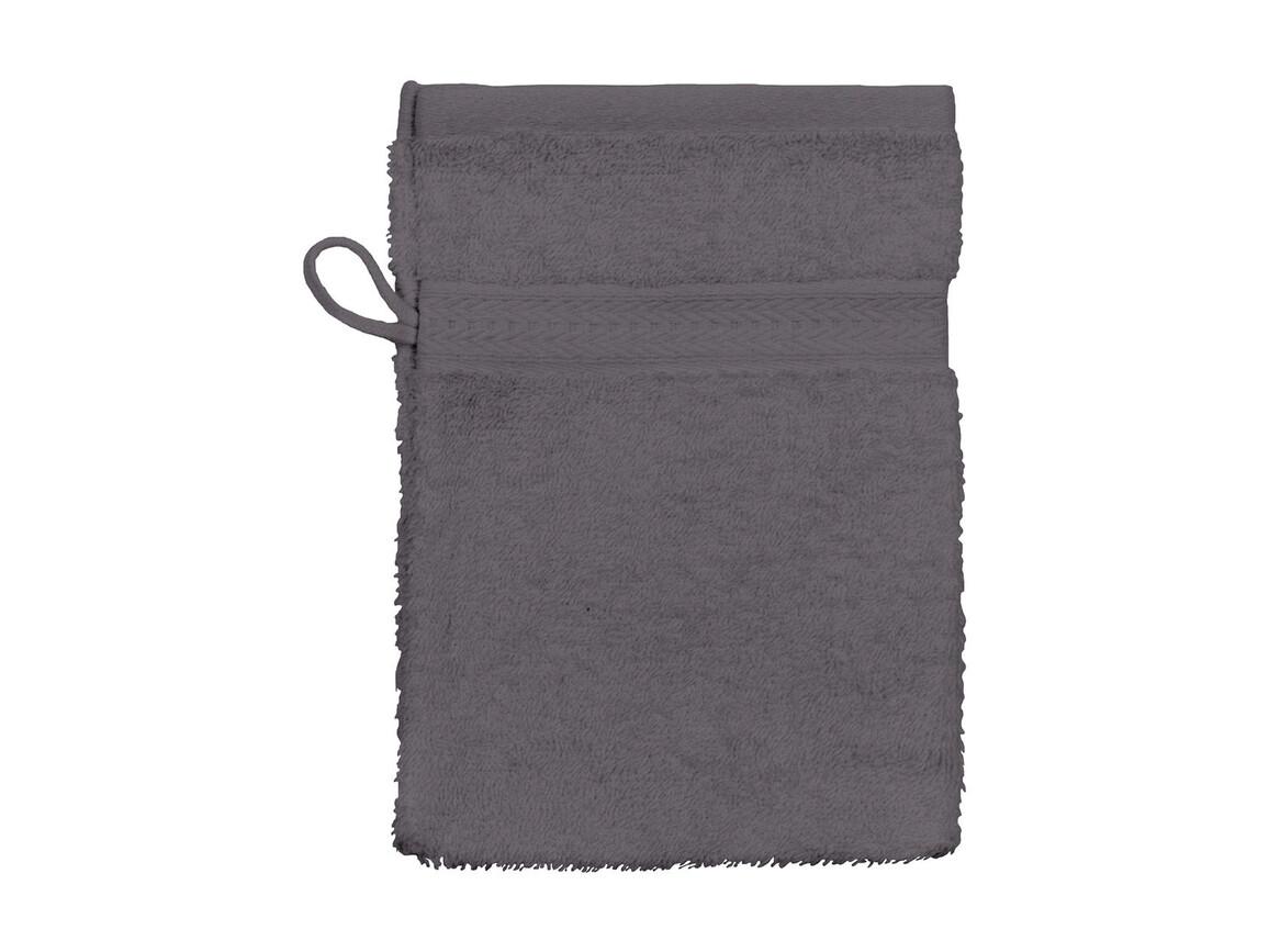 Jassz Towels Rhine Wash Glove 16x22 cm, Grey, One Size bedrucken, Art.-Nr. 002641210