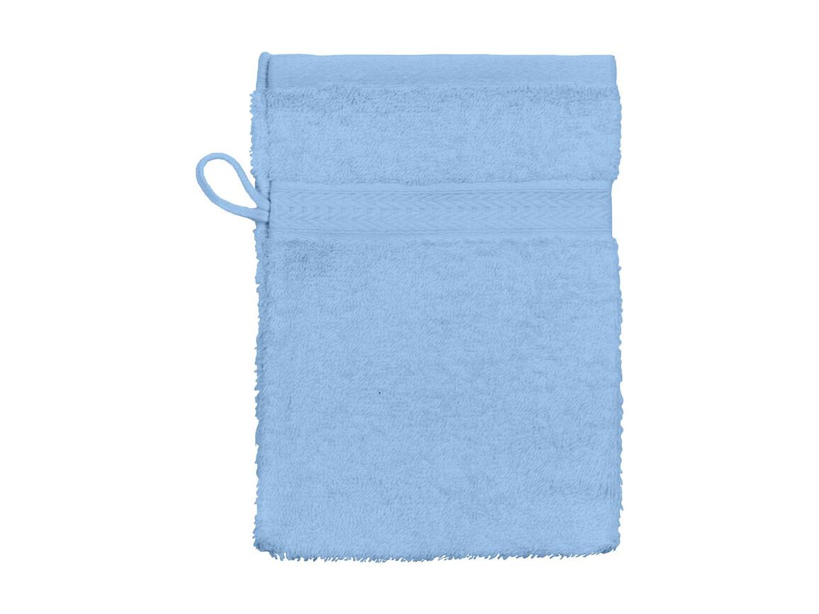 Jassz Towels Rhine Wash Glove 16x22 cm, Light Blue, One Size bedrucken, Art.-Nr. 002643210