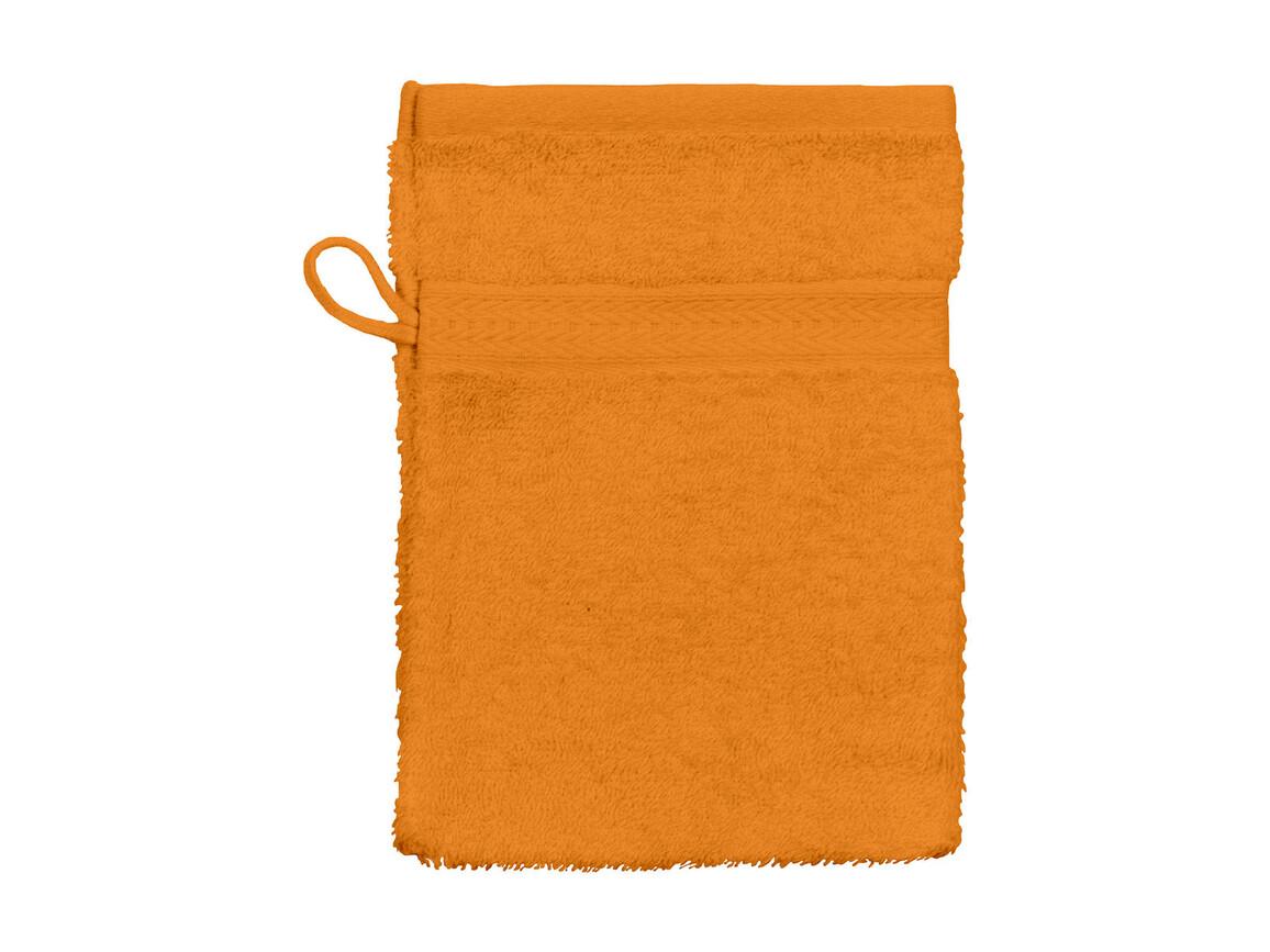Jassz Towels Rhine Wash Glove 16x22 cm, Bright Orange, One Size bedrucken, Art.-Nr. 002644130