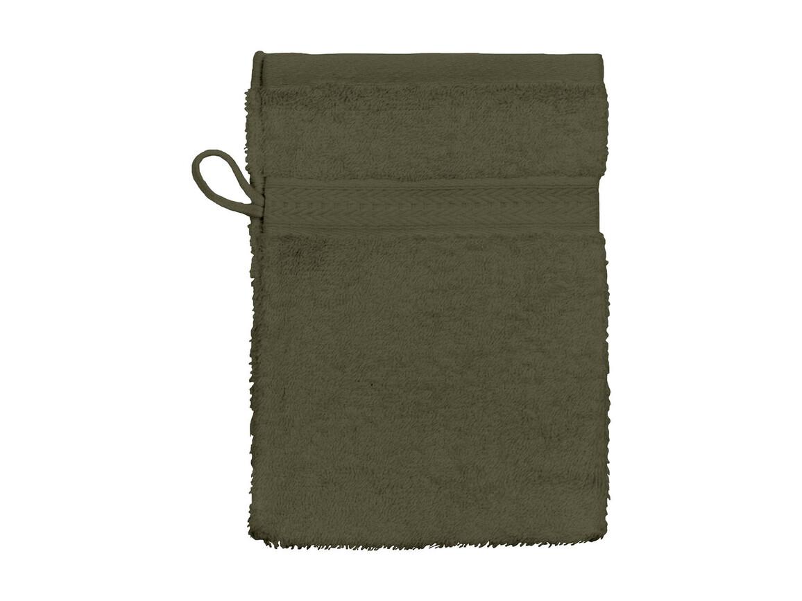 Jassz Towels Rhine Wash Glove 16x22 cm, Chocolate, One Size bedrucken, Art.-Nr. 002647020