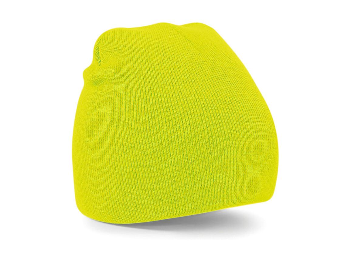 Beechfield Original Pull-On Beanie, Fluorescent Yellow, One Size bedrucken, Art.-Nr. 003696050