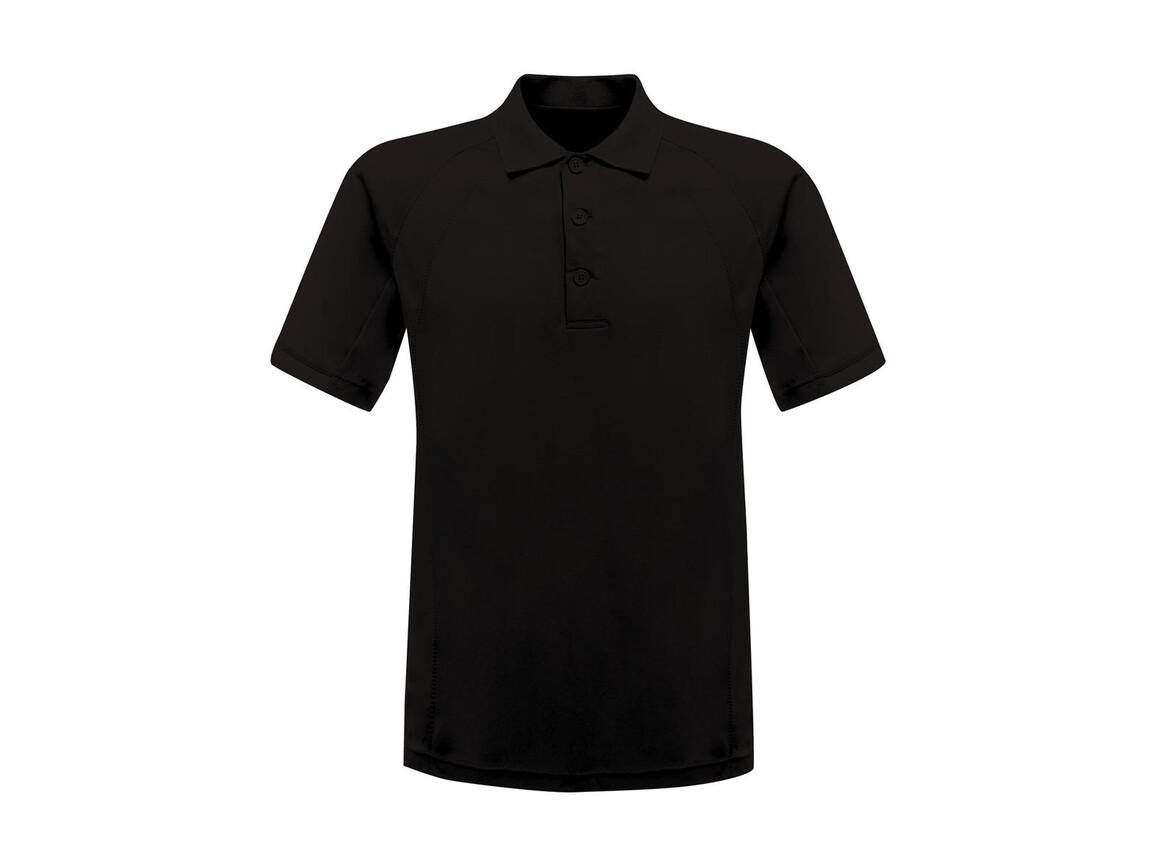 Regatta Coolweave Wicking Polo, Black, XS bedrucken, Art.-Nr. 005171012