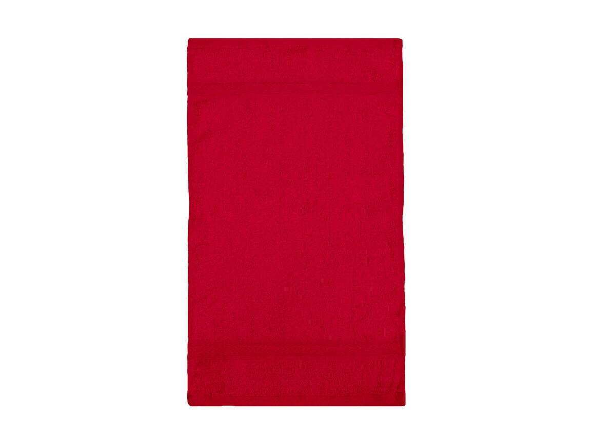 Jassz Towels Rhine Guest Towel 30x50 cm, Red, One Size bedrucken, Art.-Nr. 009644000
