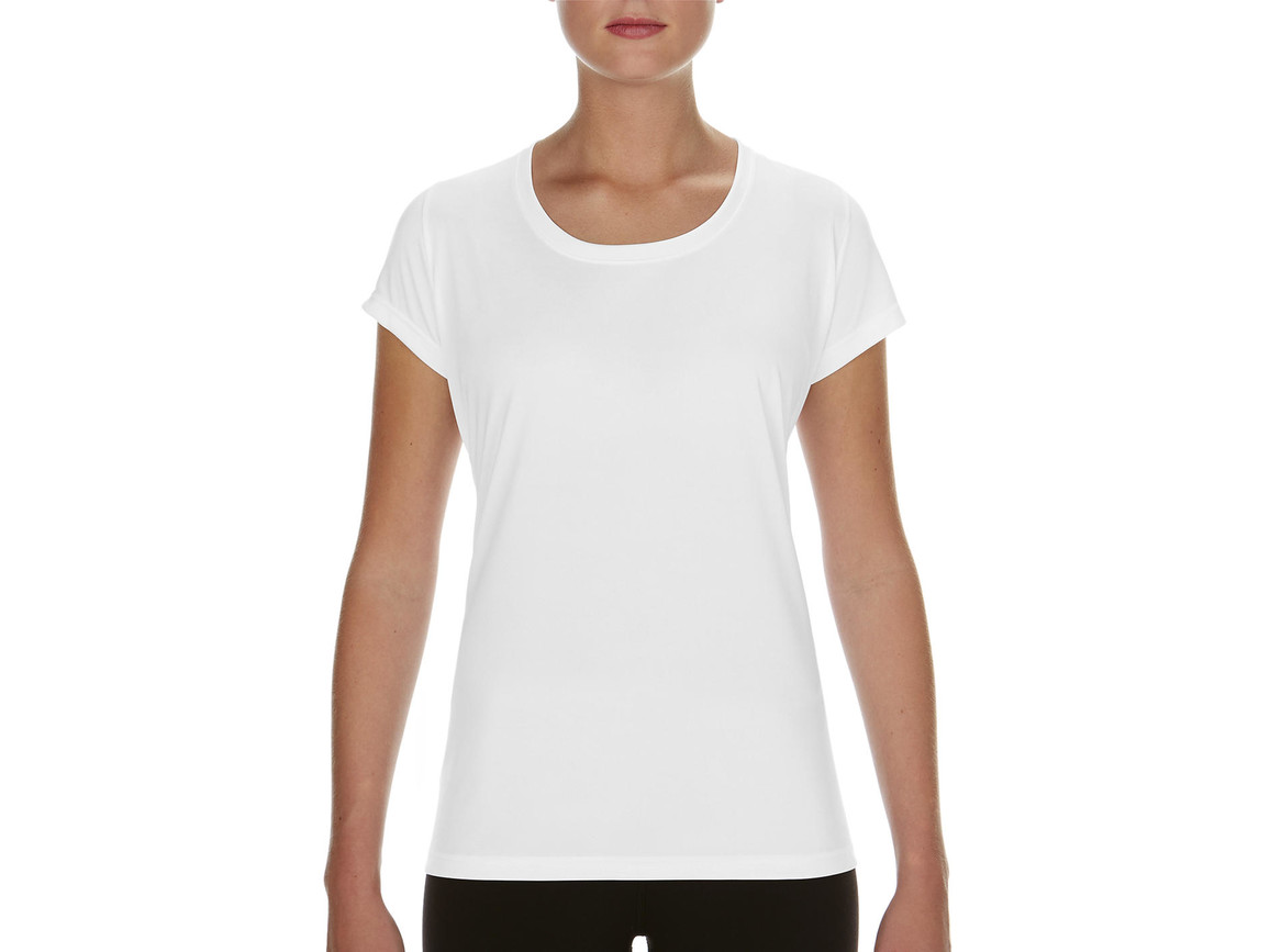 Gildan Performance Ladies` Core T-Shirt, White, XL bedrucken, Art.-Nr. 010090006