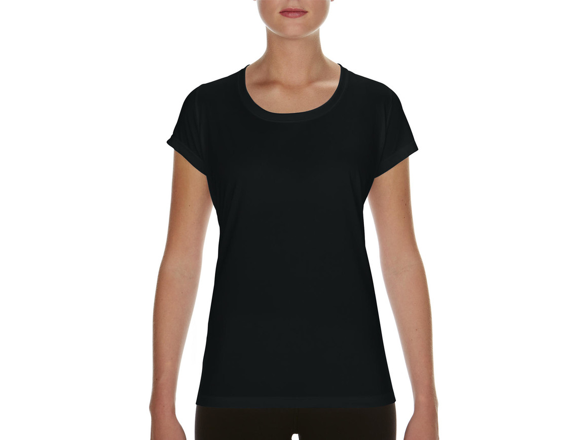 Gildan Performance Ladies` Core T-Shirt, Black, 2XL bedrucken, Art.-Nr. 010091017