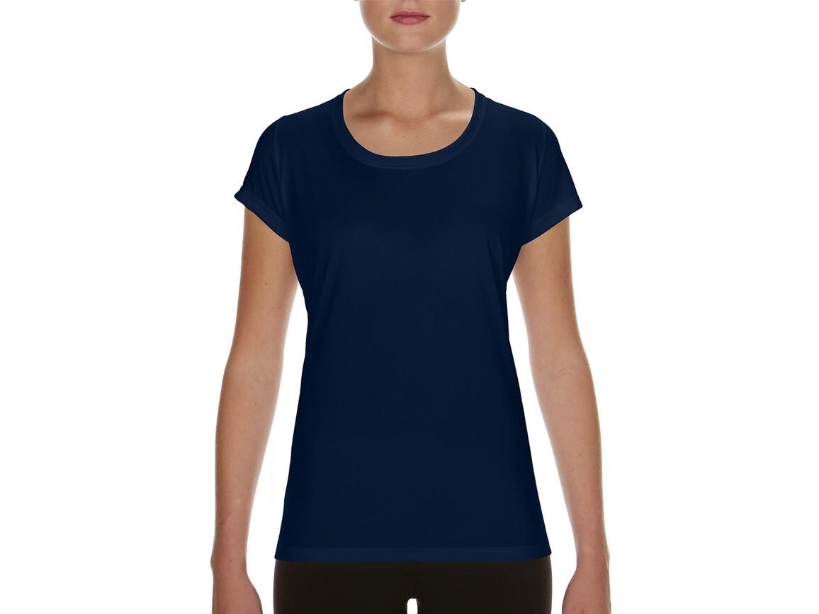 Gildan Performance Ladies` Core T-Shirt, Sport Dark Navy, S bedrucken, Art.-Nr. 010092033