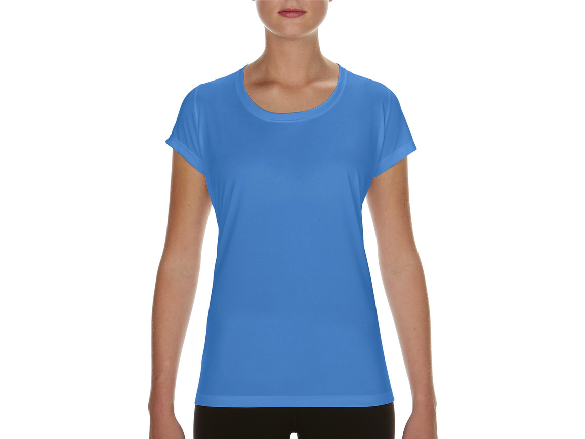 Gildan Performance Ladies` Core T-Shirt, Sport Light Blue, M bedrucken, Art.-Nr. 010093114