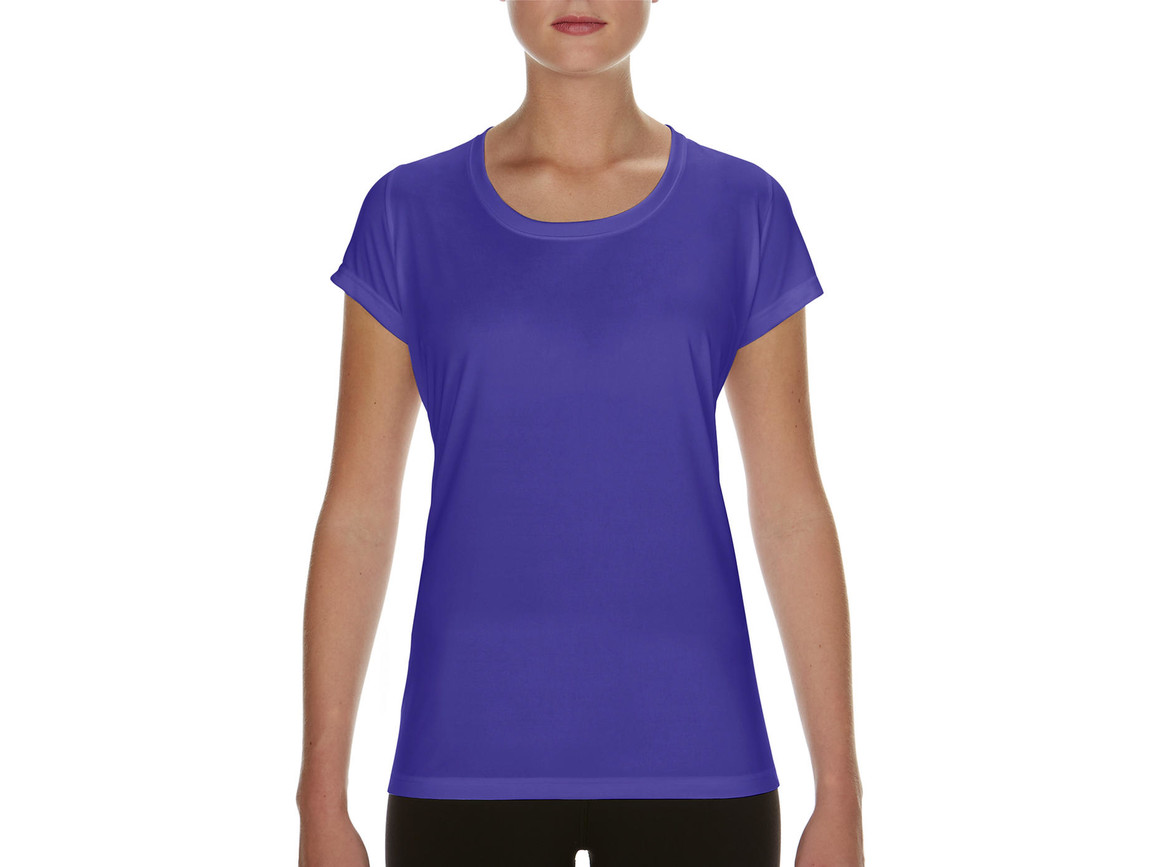 Gildan Performance Ladies` Core T-Shirt, Sport Purple, XL bedrucken, Art.-Nr. 010093146