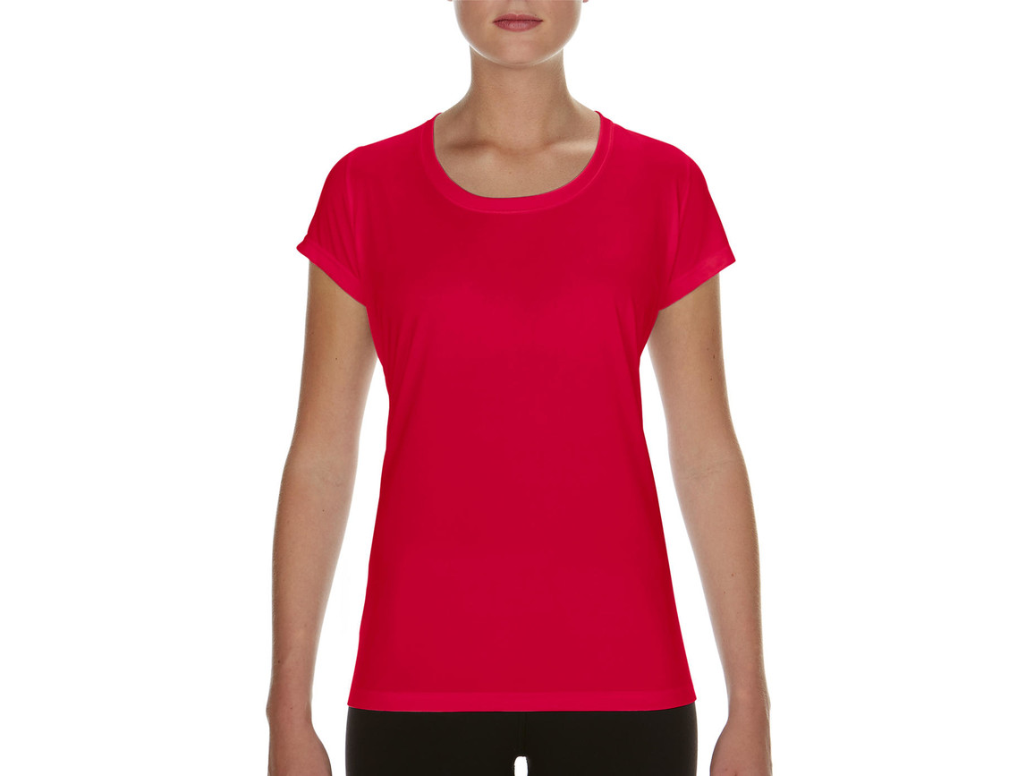 Gildan Performance Ladies` Core T-Shirt, Sport Scarlet Red, XL bedrucken, Art.-Nr. 010094156