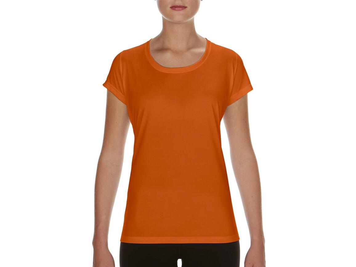 Gildan Performance Ladies` Core T-Shirt, Sport Orange, S bedrucken, Art.-Nr. 010094163