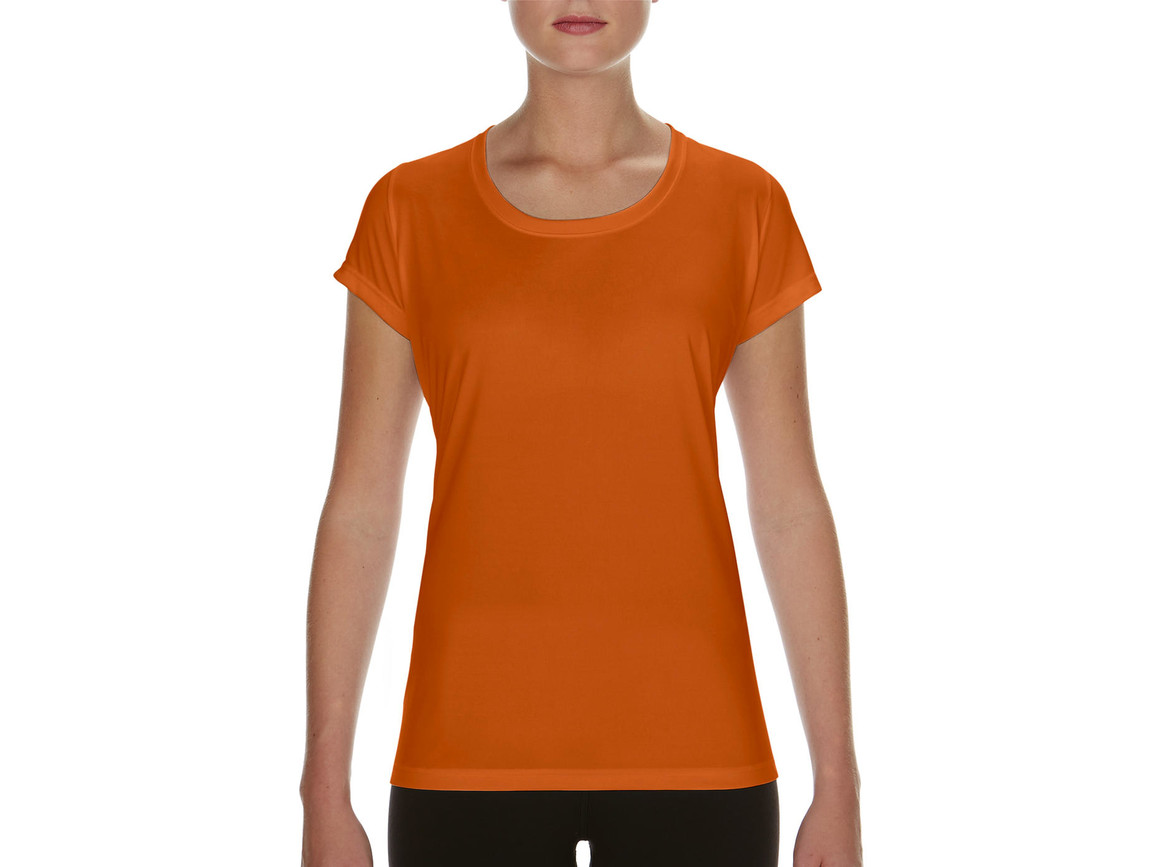 Gildan Performance Ladies` Core T-Shirt, Sport Orange, XL bedrucken, Art.-Nr. 010094166