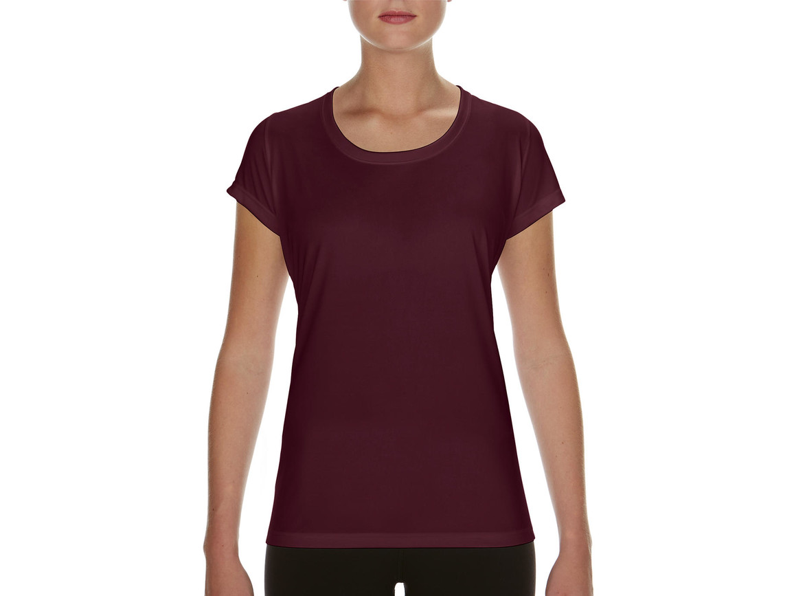 Gildan Performance Ladies` Core T-Shirt, Sport Dark Maroon, XL bedrucken, Art.-Nr. 010094186