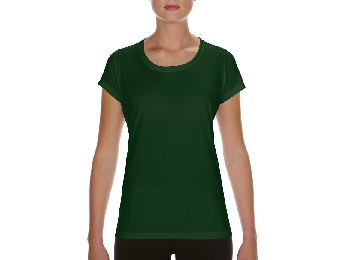 Gildan Performance Ladies` Core T-Shirt, Sport Dark Green, M bedrucken, Art.-Nr. 010095084