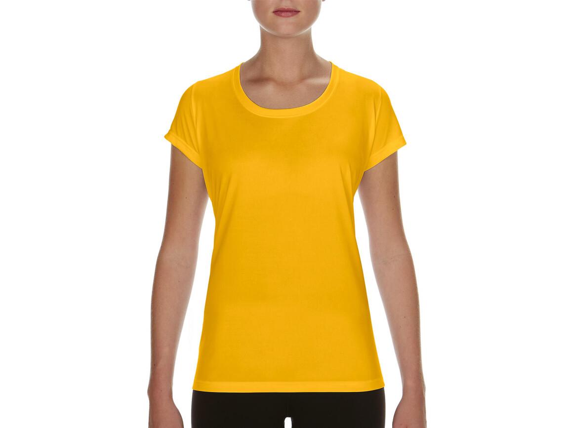 Gildan Performance Ladies` Core T-Shirt, Sport Athletic Gold, S bedrucken, Art.-Nr. 010096113