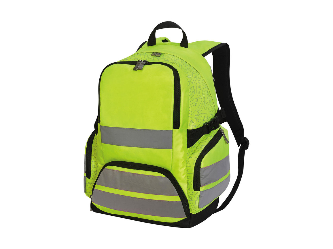 Shugon Hi-Vis Backpack London, Hi-Vis Yellow, One Size bedrucken, Art.-Nr. 010386050
