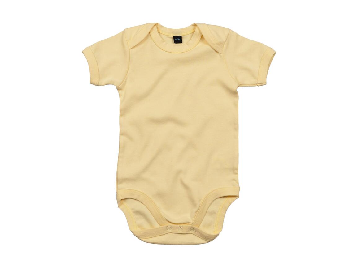 BabyBugz Baby Bodysuit, Soft Yellow, 6-12 bedrucken, Art.-Nr. 010476043