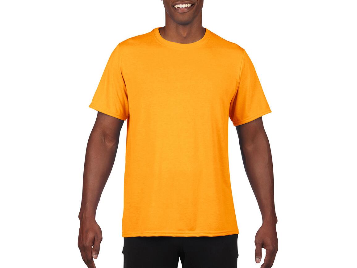 Gildan Performance Adult Core T-Shirt, Sport Athletic Gold, M bedrucken, Art.-Nr. 011096114