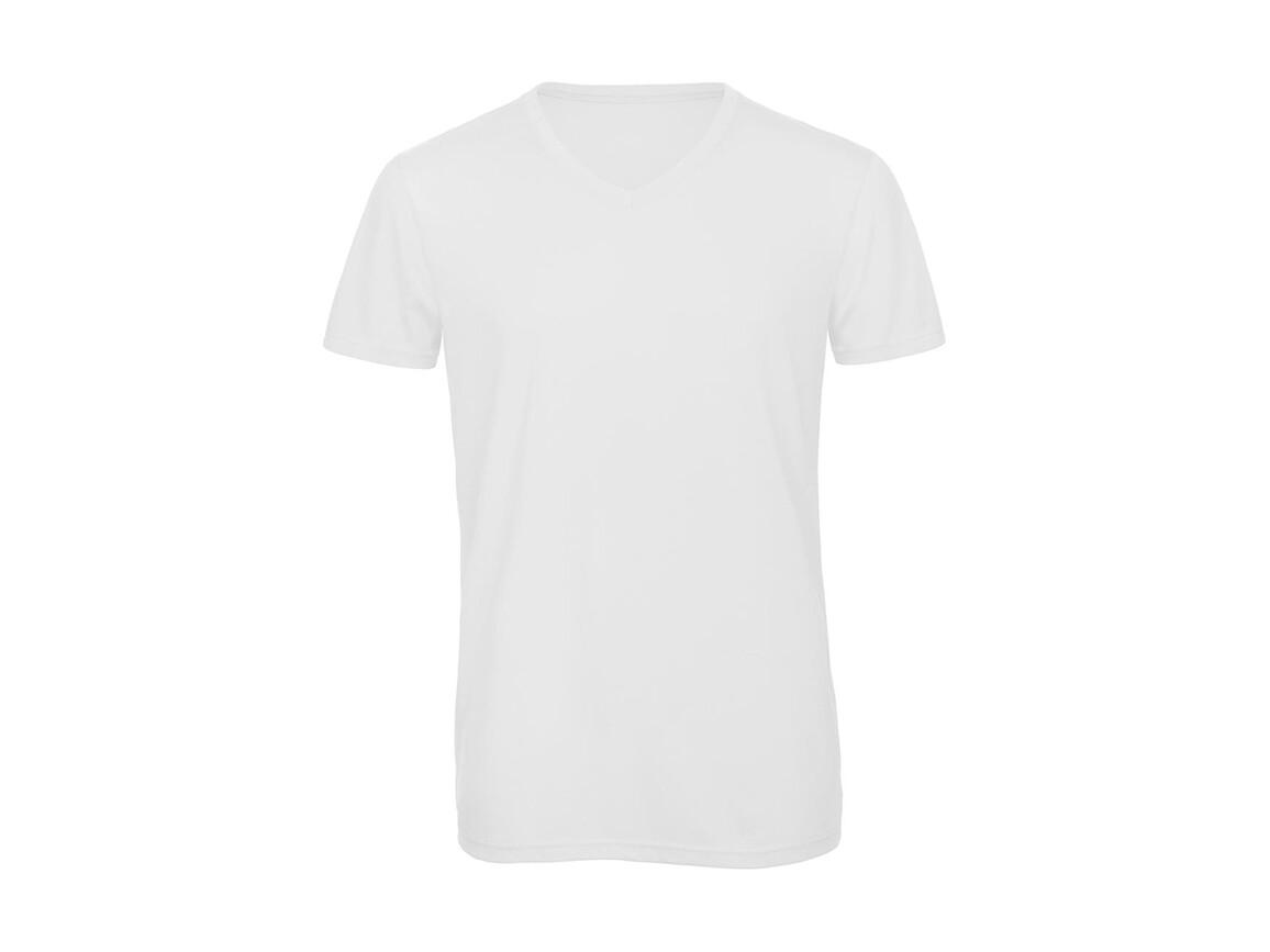 B & C V Triblend/men T-Shirt, White, S bedrucken, Art.-Nr. 011420003