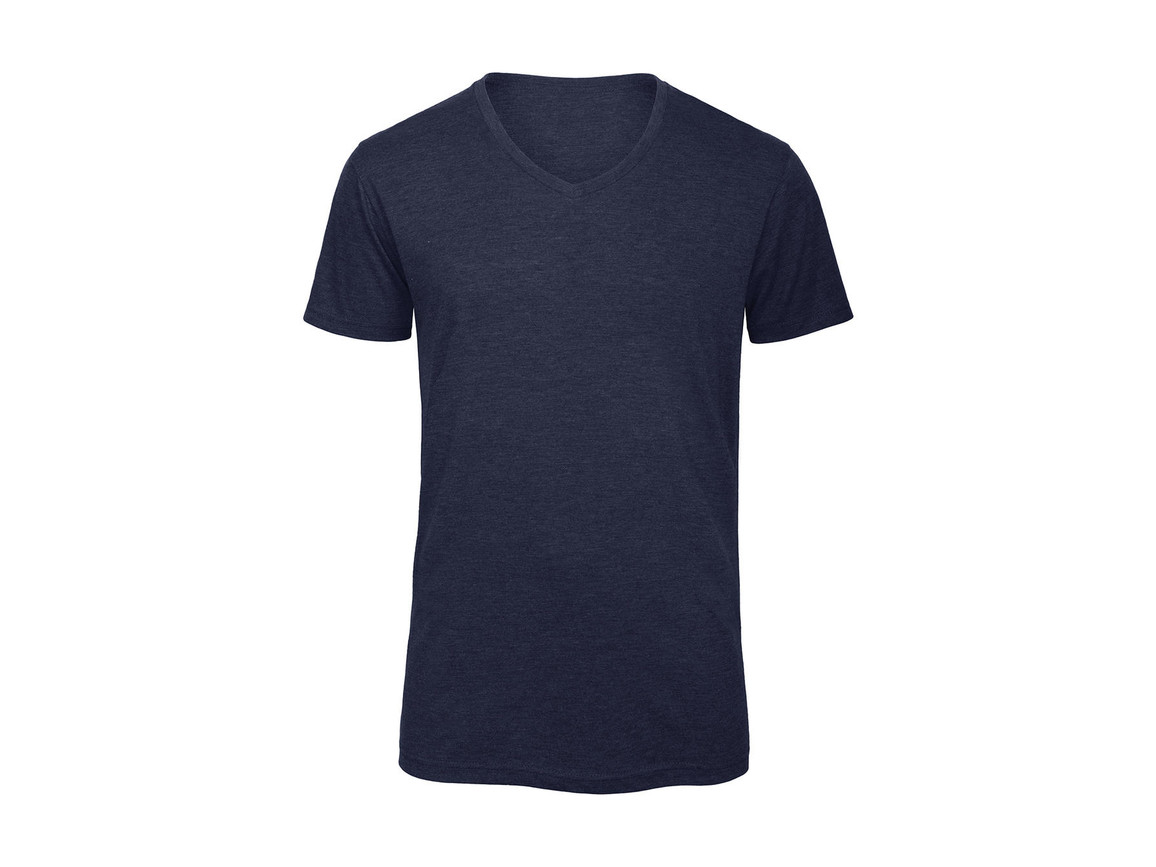 B & C V Triblend/men T-Shirt, Heather Navy, 2XL bedrucken, Art.-Nr. 011422047