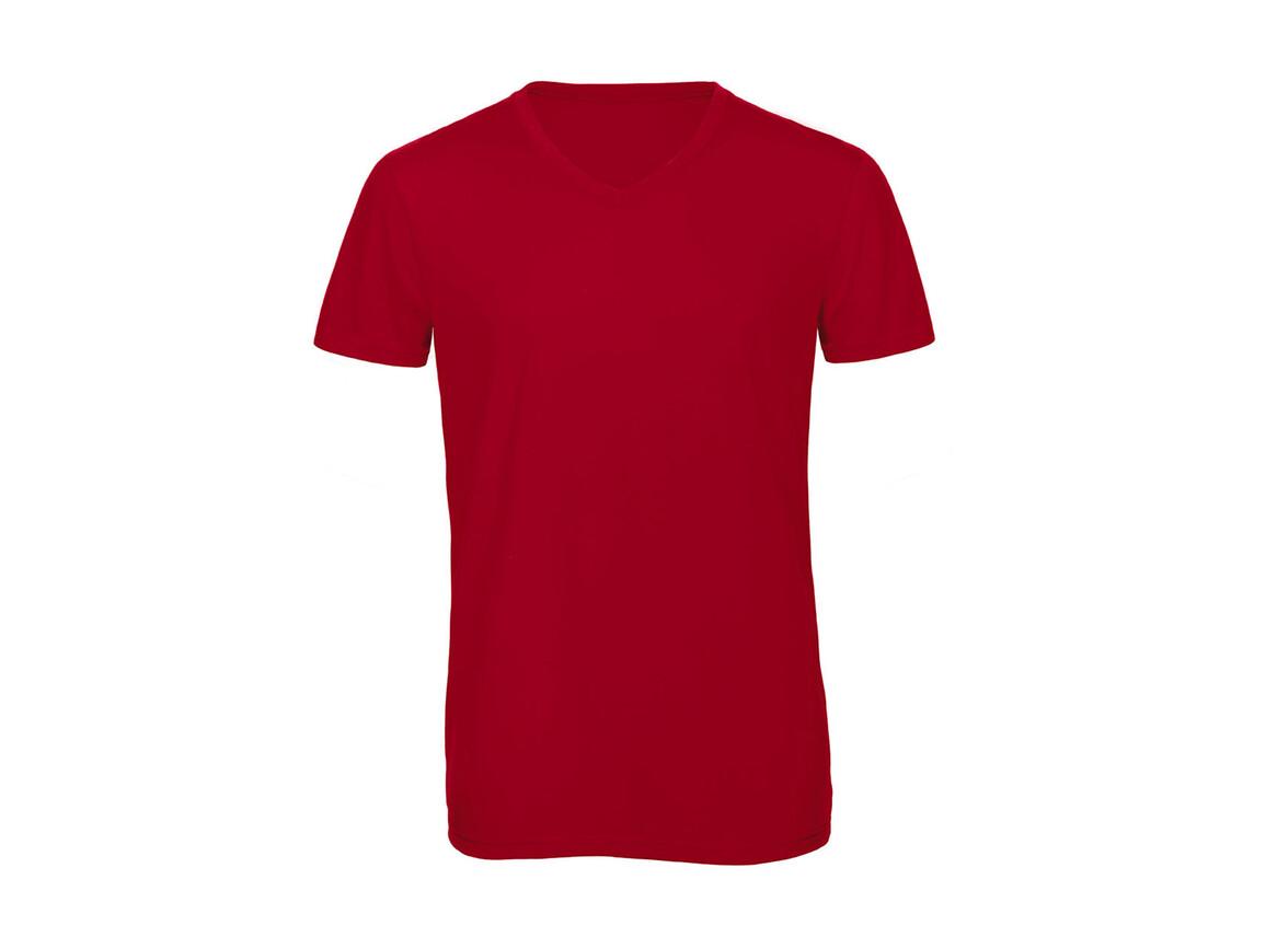 B & C V Triblend/men T-Shirt, Red, 2XL bedrucken, Art.-Nr. 011424007