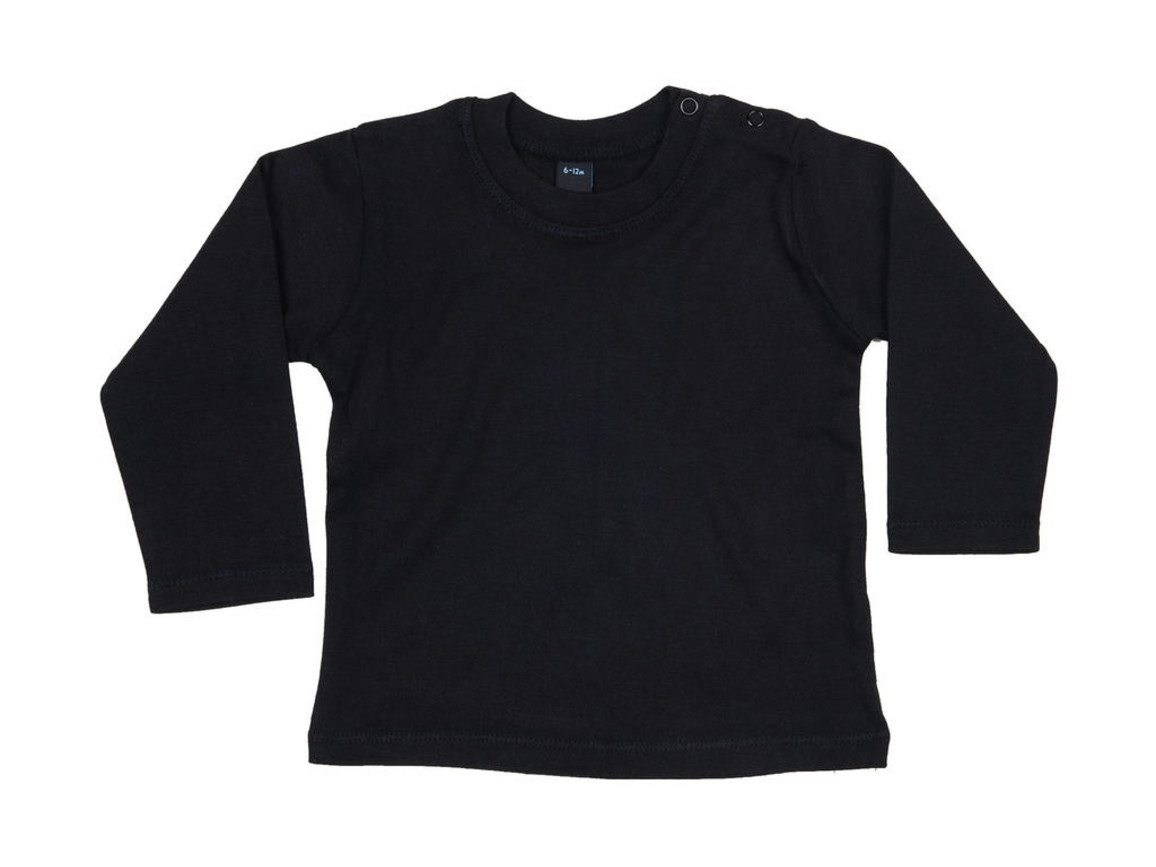 BabyBugz Baby Longsleeve Top, Black, 12-18 bedrucken, Art.-Nr. 011471014