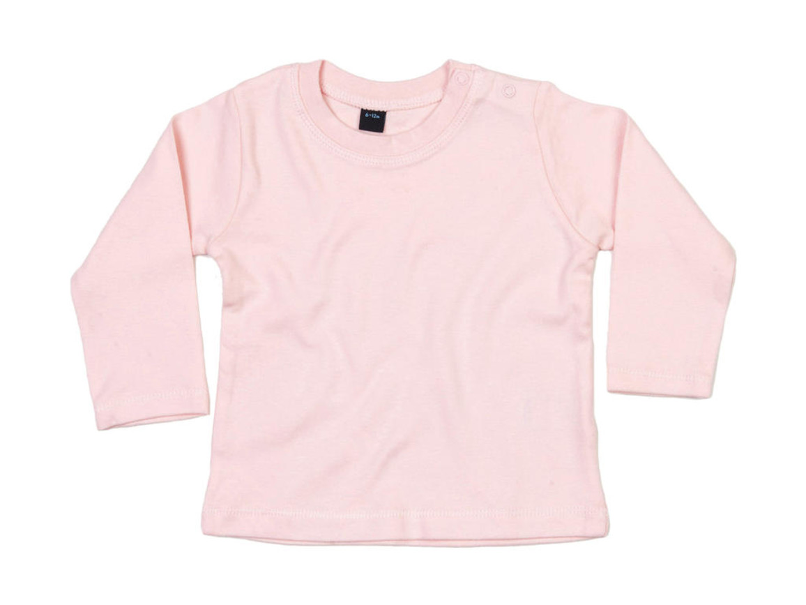 BabyBugz Baby Longsleeve Top, Powder Pink, 6-12 bedrucken, Art.-Nr. 011474173