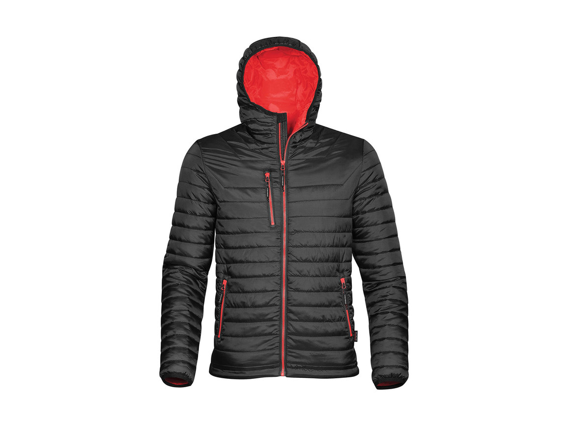 StormTech Gravity Thermal Jacket, Black/True Red, M bedrucken, Art.-Nr. 012181634