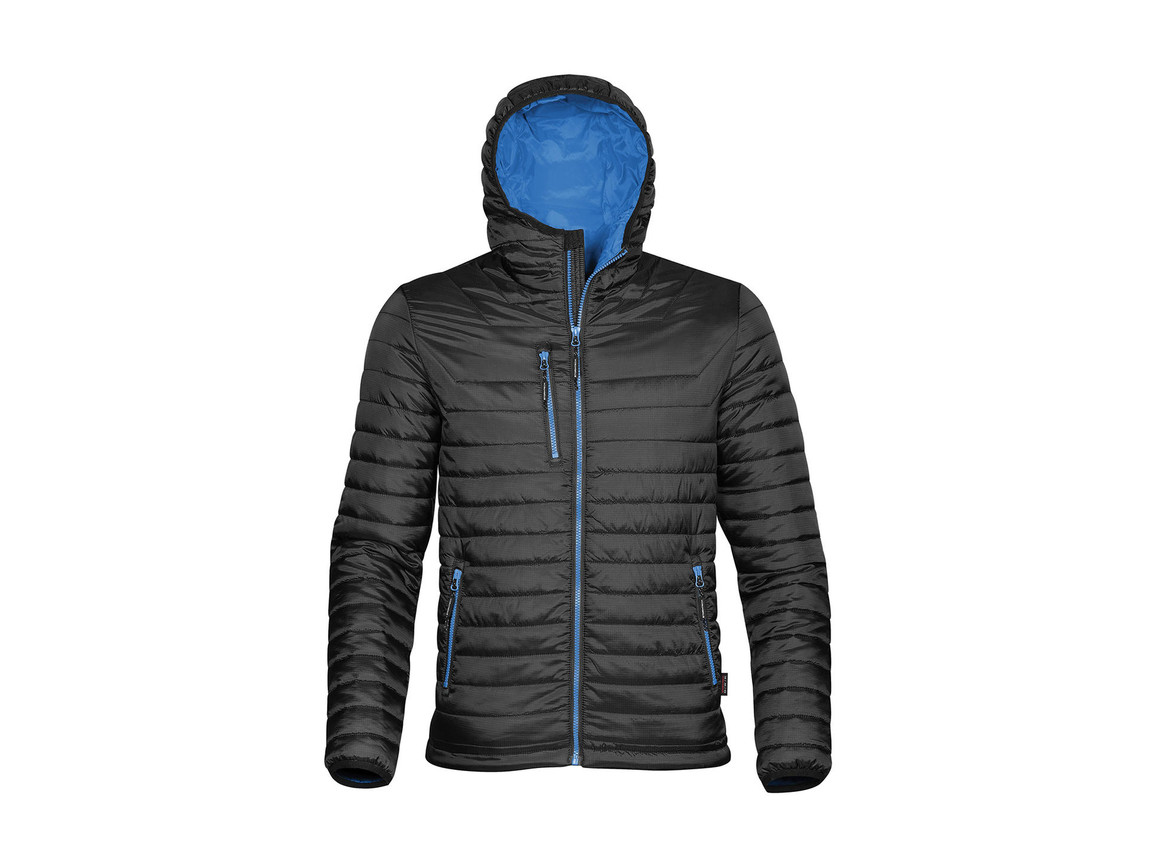 StormTech Gravity Thermal Jacket, Black/Marine Blue, 2XL bedrucken, Art.-Nr. 012181687