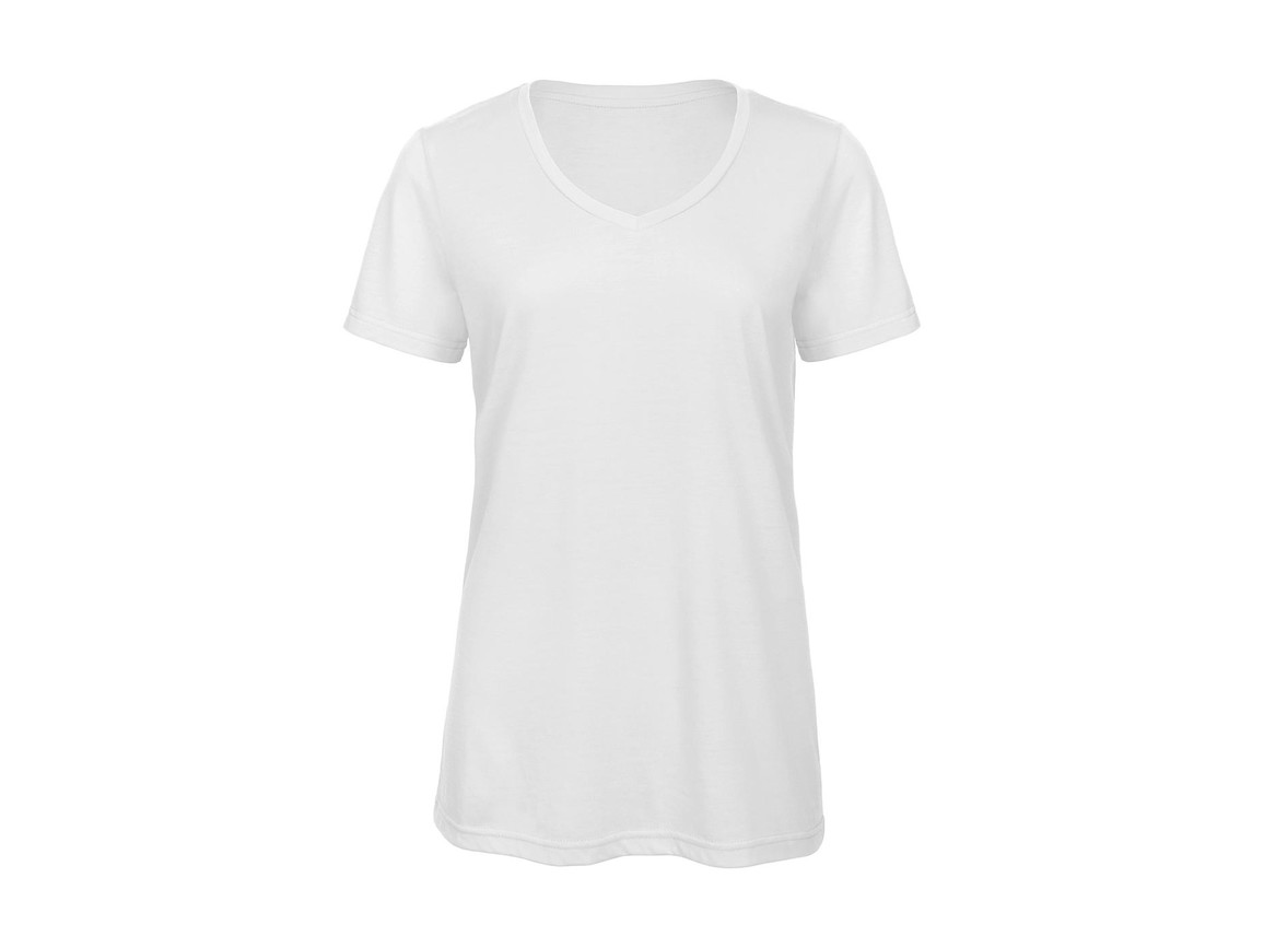 B & C V Triblend/women T-Shirt, White, L bedrucken, Art.-Nr. 012420005