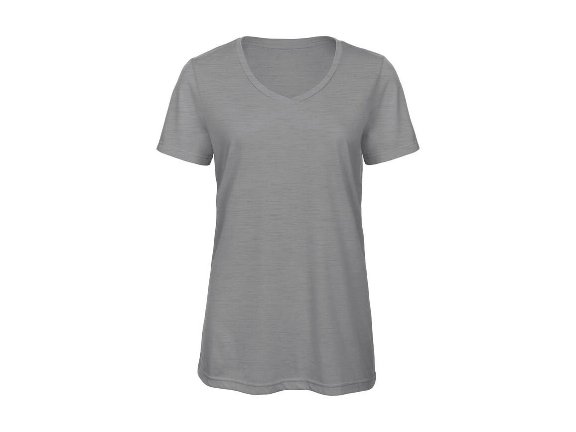B & C V Triblend/women T-Shirt, Heather Light Grey, 2XL bedrucken, Art.-Nr. 012421137