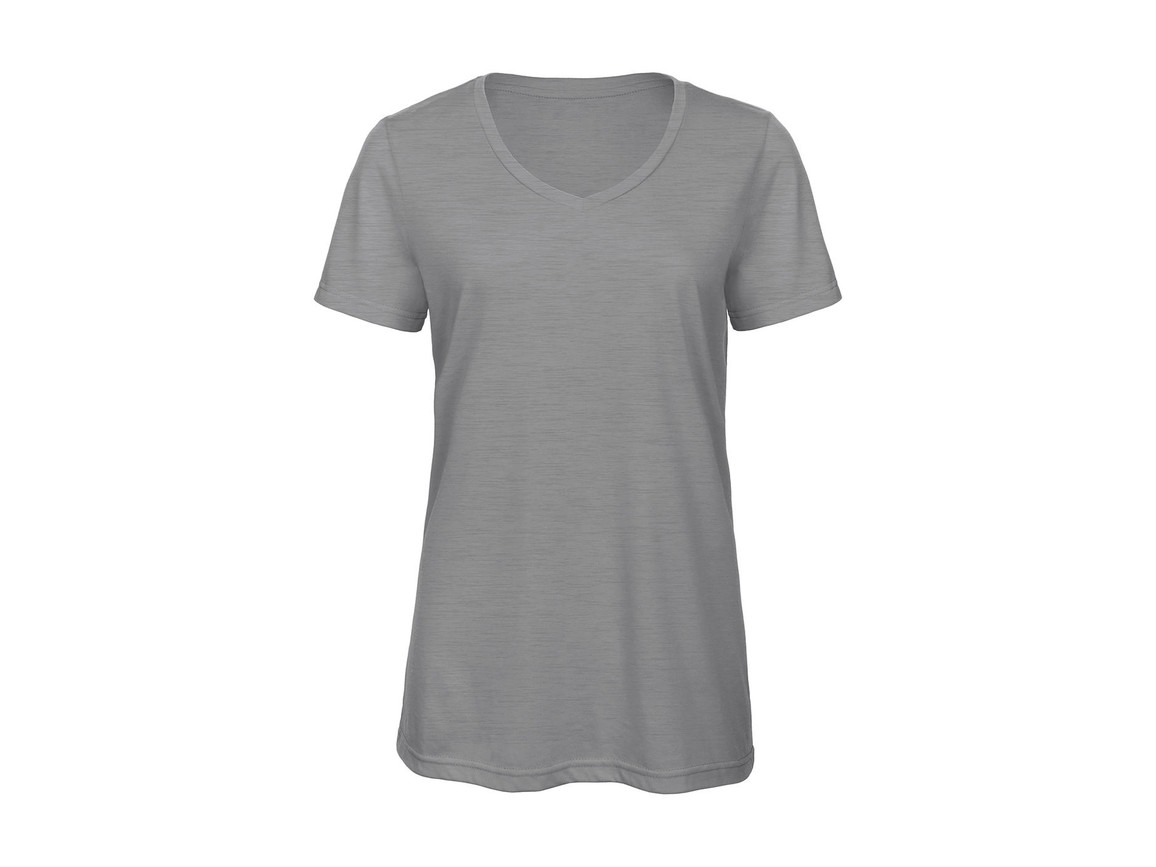 B & C V Triblend/women T-Shirt, Heather Light Grey, XL bedrucken, Art.-Nr. 012421136