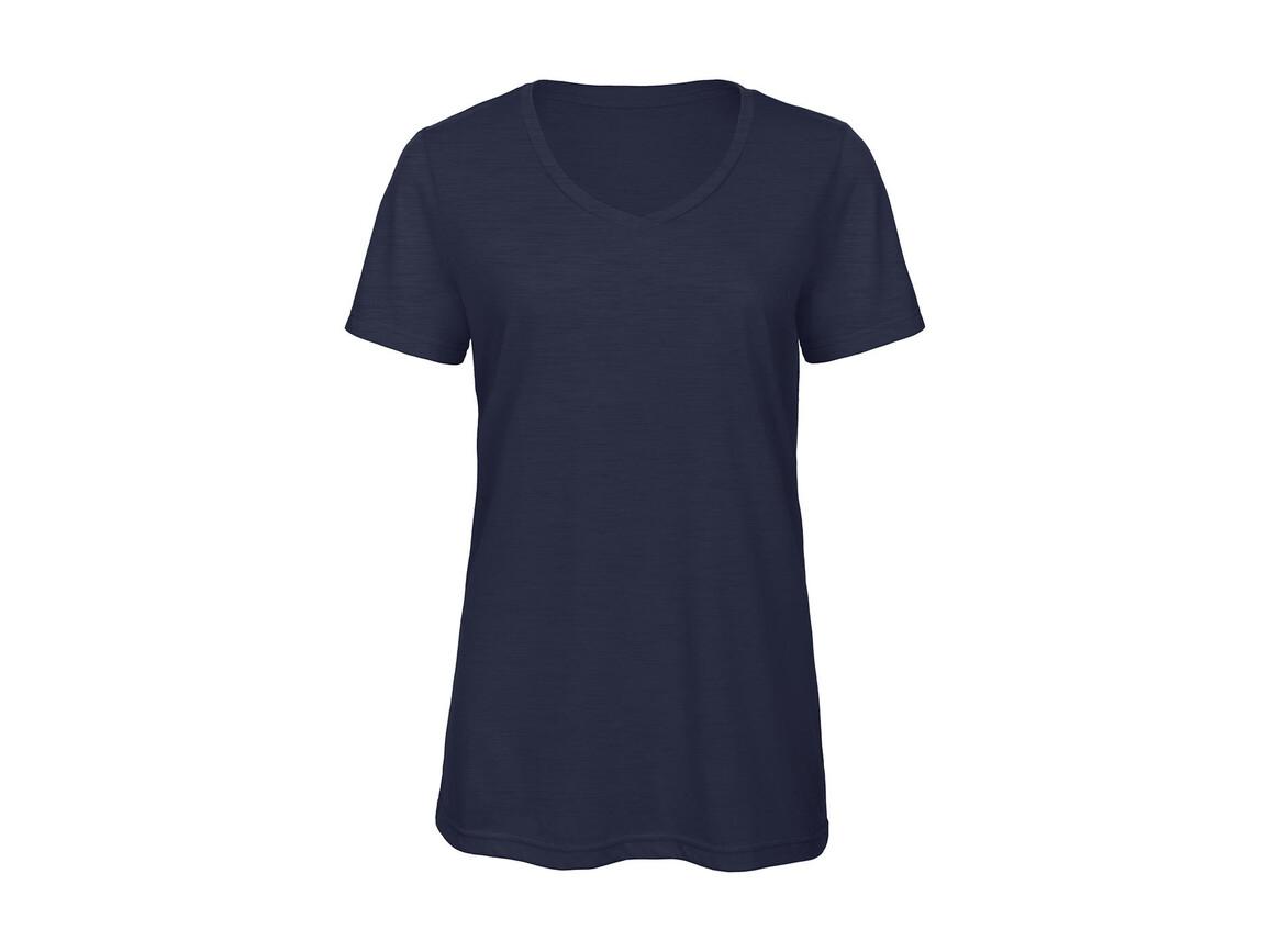 B & C V Triblend/women T-Shirt, Heather Navy, L bedrucken, Art.-Nr. 012422045