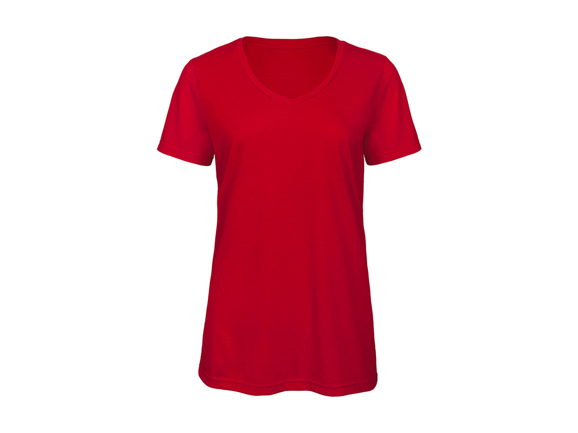 B & C V Triblend/women T-Shirt, Red, XS bedrucken, Art.-Nr. 012424002