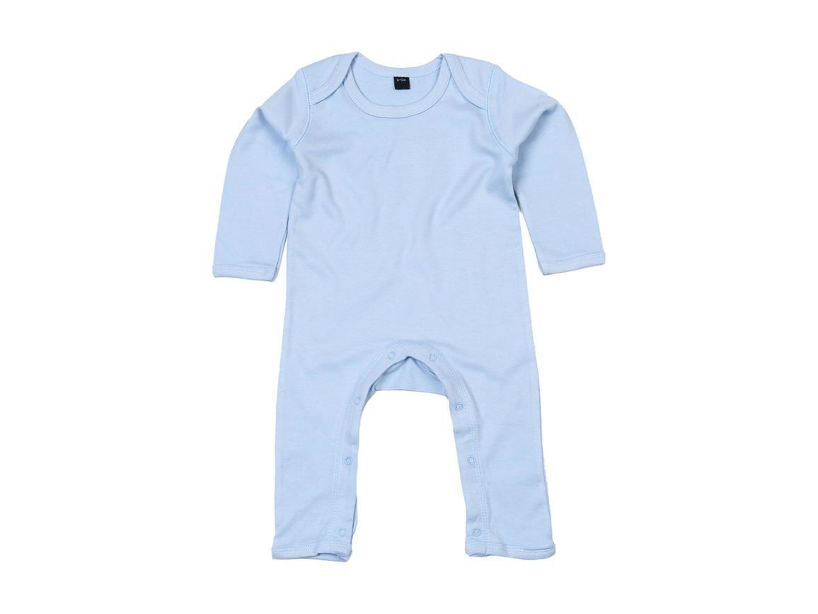 BabyBugz Baby Rompasuit, Dusty Blue, 12-18 bedrucken, Art.-Nr. 013473114