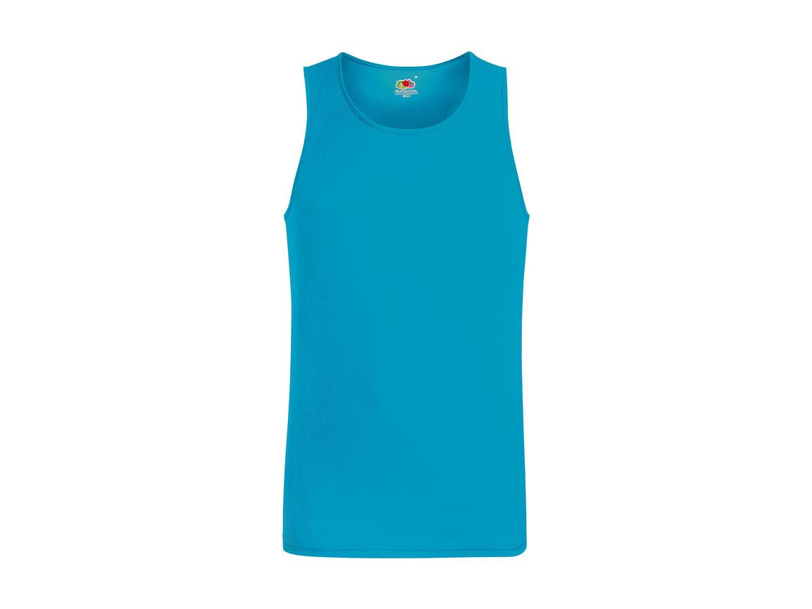 Fruit of the Loom Performance Vest, Azure Blue, M bedrucken, Art.-Nr. 014013104