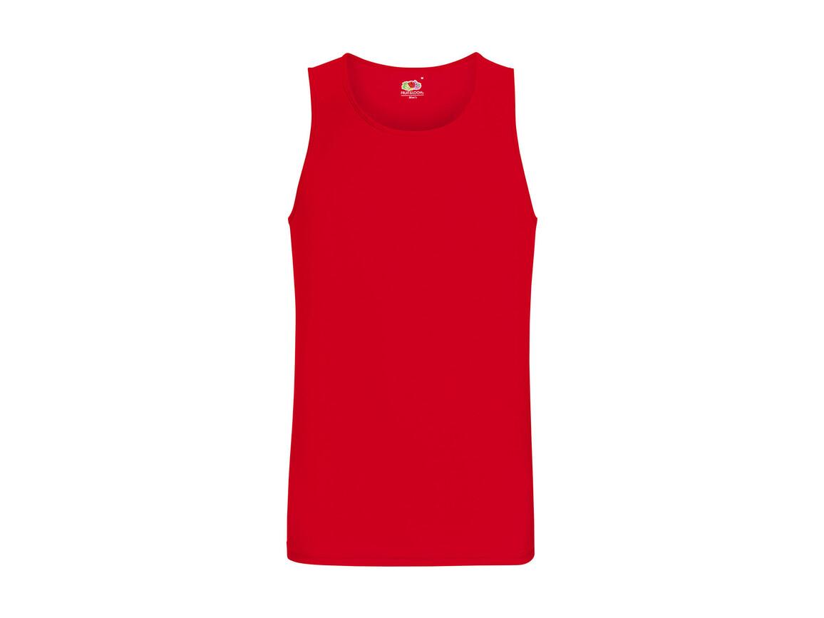 Fruit of the Loom Performance Vest, Red, 2XL bedrucken, Art.-Nr. 014014007