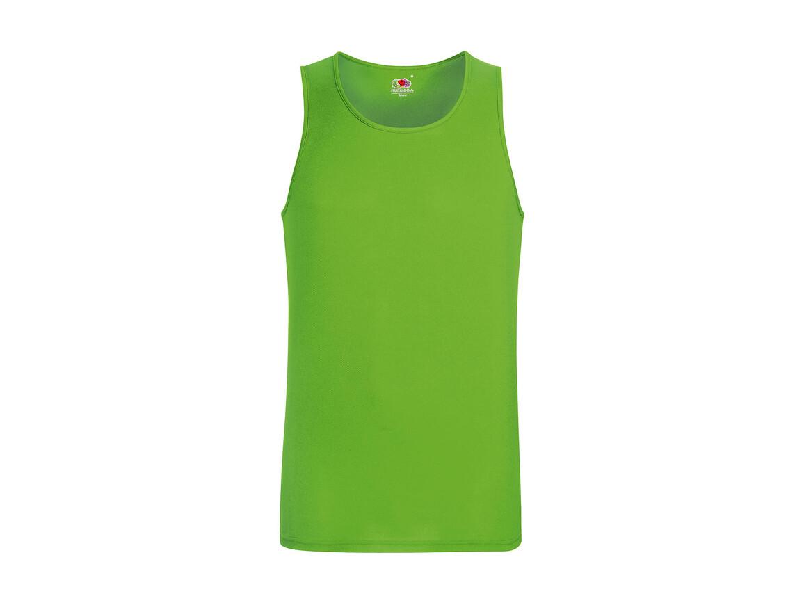 Fruit of the Loom Performance Vest, Lime Green, L bedrucken, Art.-Nr. 014015215