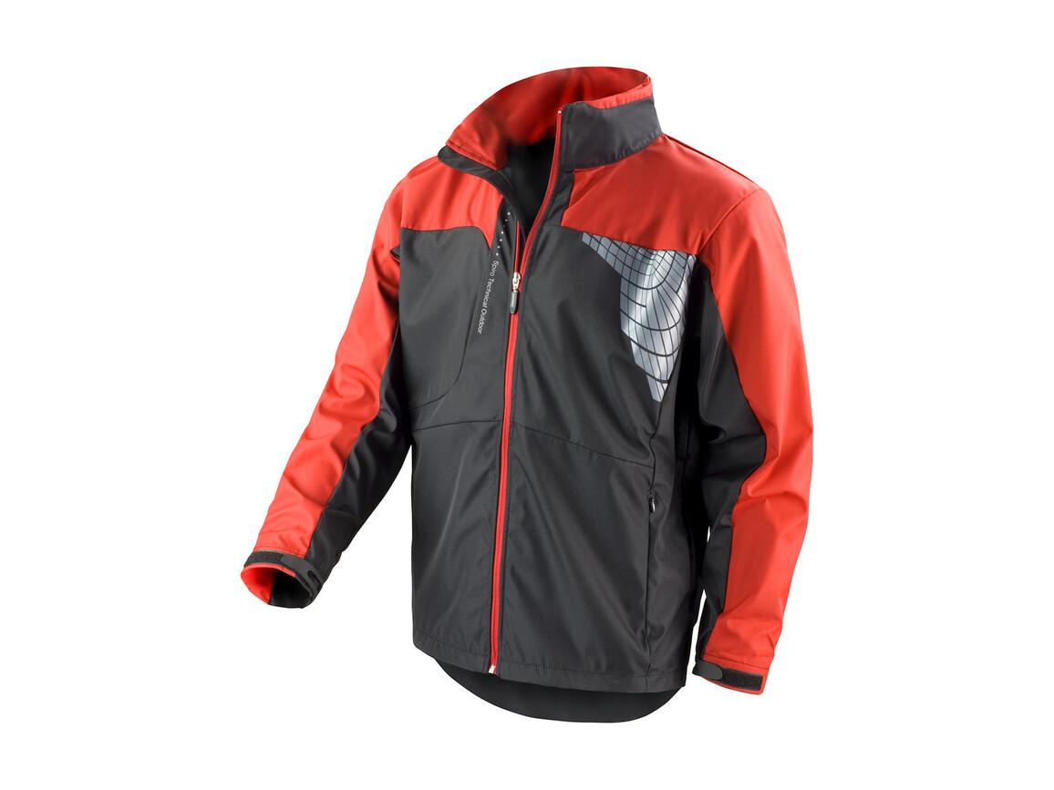 Result Men`s Team Soft Shell Jacket, Black/Red, S bedrucken, Art.-Nr. 014331543
