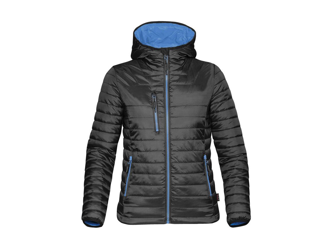 StormTech Women`s Gravity Thermal Jacket, Black/Marine Blue, L bedrucken, Art.-Nr. 015181685