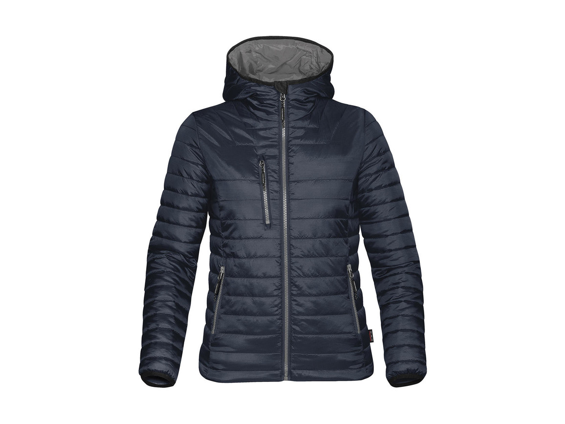 StormTech Women`s Gravity Thermal Jacket, Navy/Charcoal, XL bedrucken, Art.-Nr. 015182646